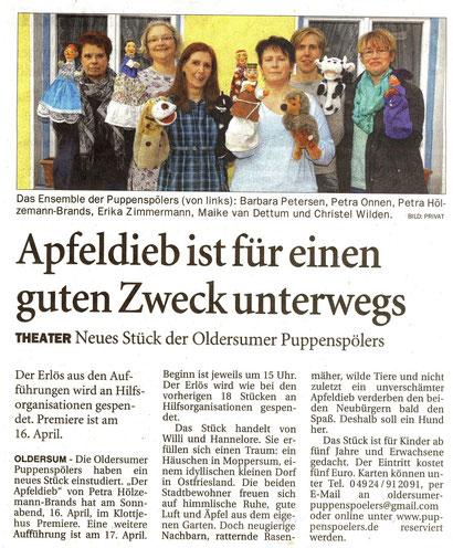Ostfriesen-Zeitung v. 2.04.2016