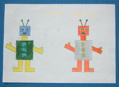Lieke Huismann (8 Jahre): Roboter