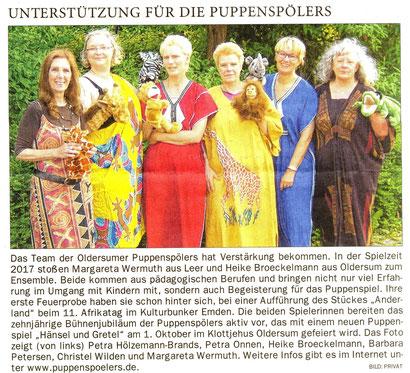 Ostfriesen-Zeitung v. 10.07.2017