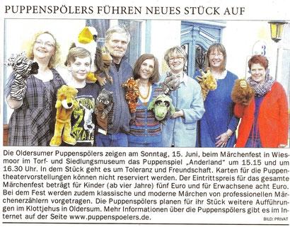 Ostfriesen-Zeitung vom 7.06.2014
