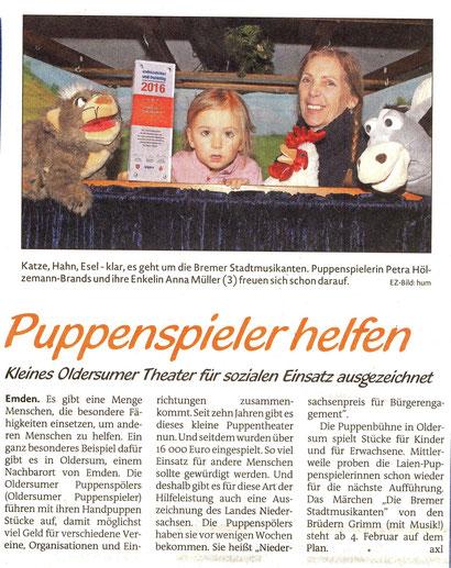 Emder Zeitung Kinderseite v. 10.01.2017