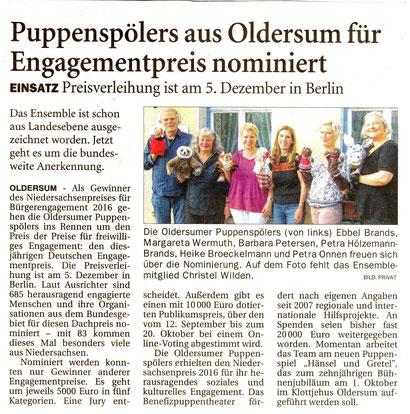 Ostfriesen-Zeitung v. 17.08.2017