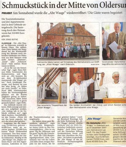 Ostfriesen-Zeitung v. 5.08.2013