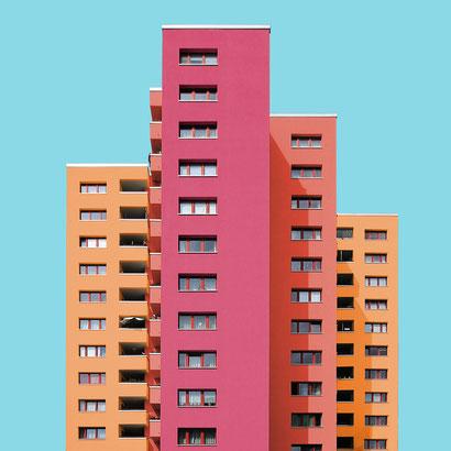 märkisches viertel Berlin Reinickendorf Ernst Gisel 1971 Plattenbau colorful architecture