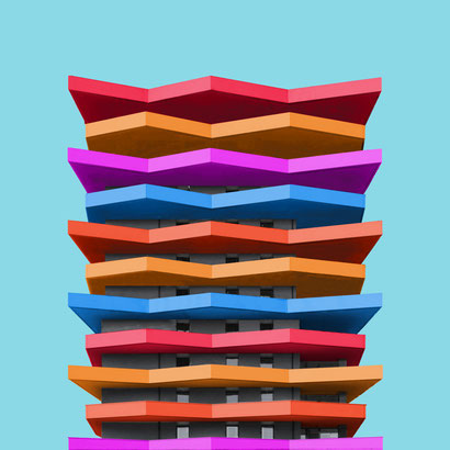 Hochhaus Grüne Mitte Stögmüller Architekten Linz colorful architecture