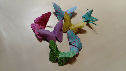 origamis réalisés en pliage traditionel