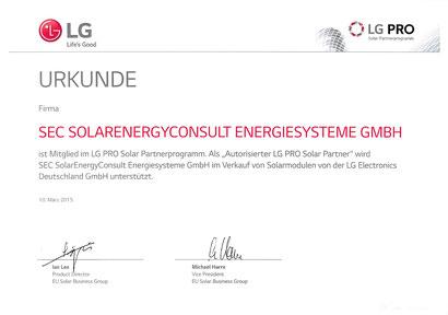 LG PRO Solar Partner 2015