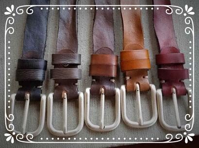 cintura vintage in cuoio