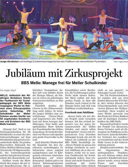 Zirkusprojekt im September 2013