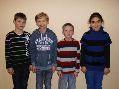 Klasse 4e: Kai, Jost, Sven und Ilayda