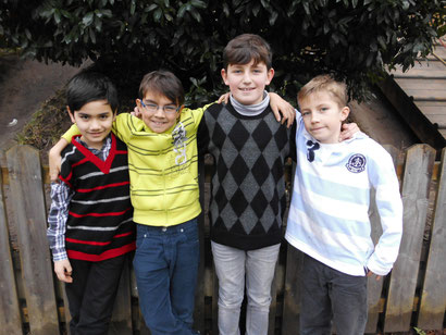 Klasse 3e: Ekrem, Mirco, Jean und Friedrich
