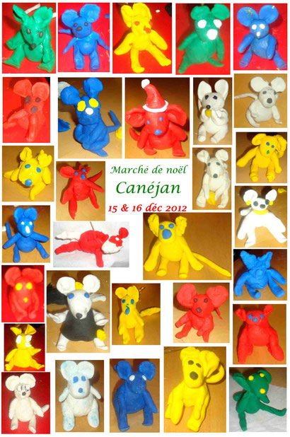 """Animation """"souris en pâte à modeler"""" - Marché de Noël de Canéjan 2012"""