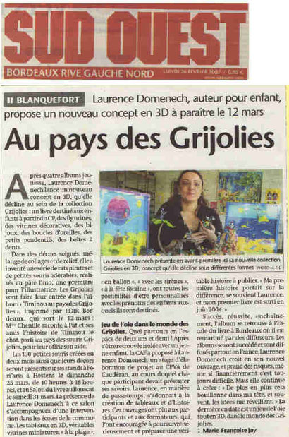 Journal Sud-Ouest 26.02.2007