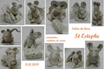 """Animation """"souris en terre"""" - salon du livre de St Estephe (oct. 2009)"""