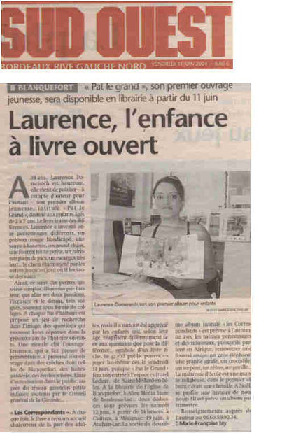 Journal Sud-Ouest 11.06.2004