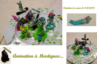 "Atelier ""souris en pâte"" à Martignas (2008)"