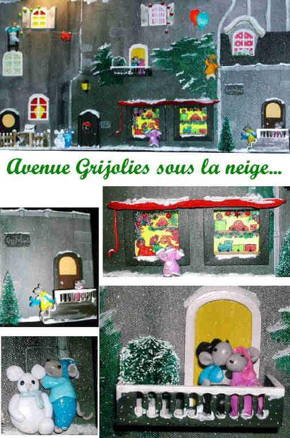 Avenue Grijolies sous la neige...