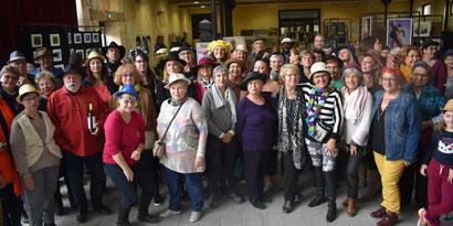 Journal SUD-OUEST 20.11.2019 - Les Artistes du lavoir ont réussi leur première exposition à la vacherie de Majolan photos Marie-Françoise Jay