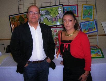 Octobre 2006 - Salon du livre de Ste Hélène avec Mr Patrick Baudry (astronaute)