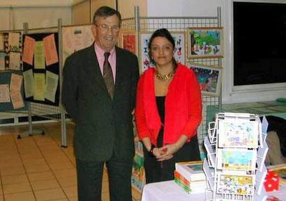 """mars 2006 - """"Le printemps des poètes"""" avec Mr Pierre Auger (Maire de Pessac)"""