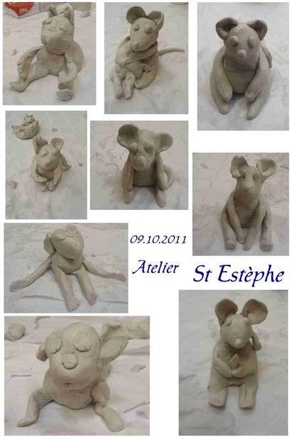 """Animation """"souris en terre"""" - salon du livre de St Estèphe (oct. 2011)"""