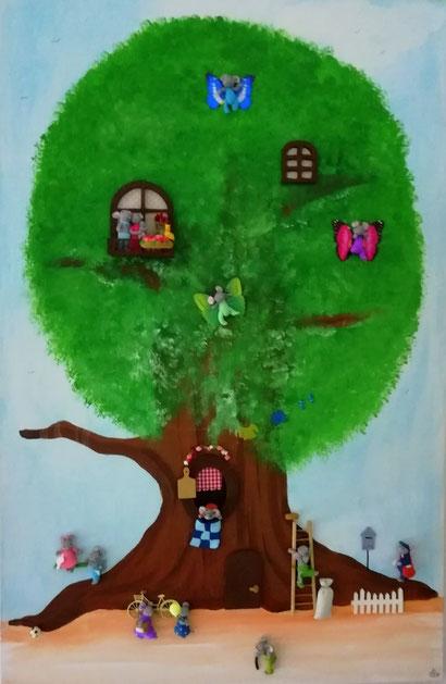 Toile 80cm x 100 cm - La maison dans l'arbre