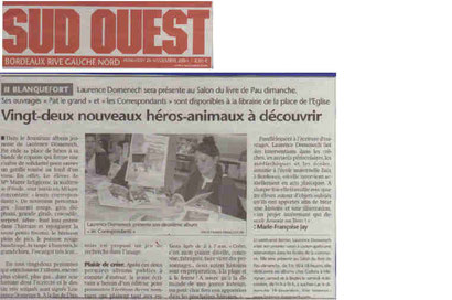Journal Sud-Ouest 26.11.2004