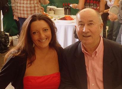 Oct. 2011 - Salon du Livre de St Estèphe avec mon ami Max Obispo