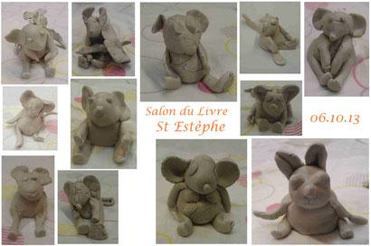 """Animation """"souris en terre"""" - Salon St Estèphe (oct. 2013)"""