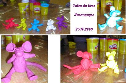 """Animation """"souris en pâte à modeler""""- Parempuyre (oct. 2009)"""