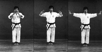 Maestro kanazawa iniciando el kata