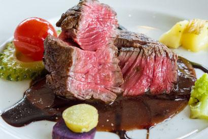 チラシに掲載するフランス料理の写真
