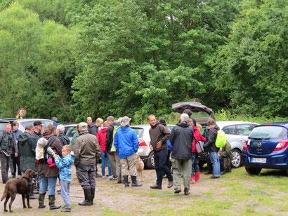 Trotz anfänglich schlechtem Wetters, kamen doch viele Naturfreunde