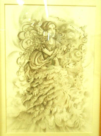 立花雪 炎と楽園のアート 作品展~楽園の春〜 YukiTachibana