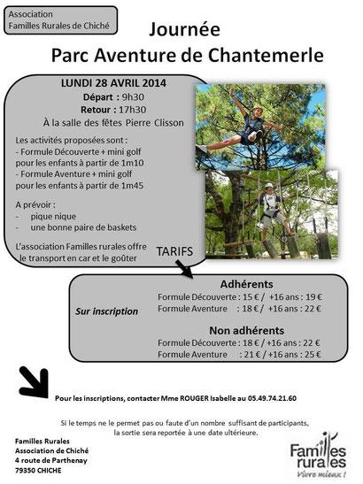 Infos et réservation auprès d'Isabelle Rouger au 05.49.74.21.60