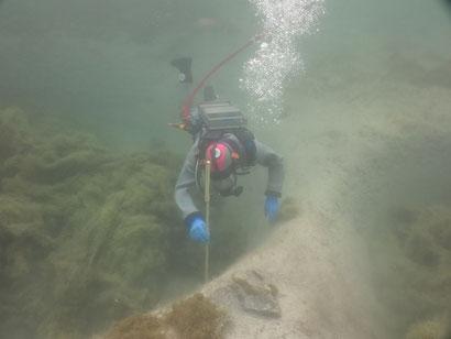 Vermessung der Fundstelle im Luzerner Seebecken