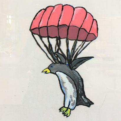 """Diese Bild wurde von Mejdina Berisha gemalt. Es trägt den Namen «Vielfältig wie ein Vogel» und repräsentiert das Ziel 4 """"Hochwertige Bildung""""."""