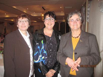 geballte LandFrauenpower: Marga Trede (S-H), Irmgard Fleig (KLFV) und Brigitte Scherb (dlv)
