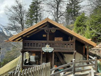 Alpensöhne-Hütte im Halltal