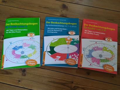 Beobachtungsbogen für Kinder unter 3, Sprachentwicklung von 1-6, Beobachtungsbogen von 3-6