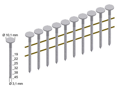 Dachpappnägel Modell CNZ 19-45