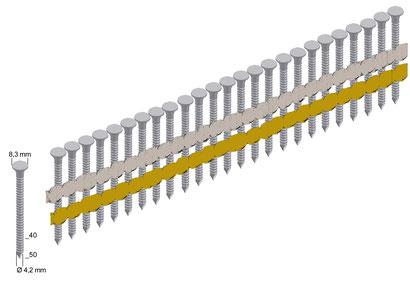 Ankernägel 25° Modell ANK 40-50