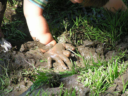 Water-logging = muddy kids with muddy boots and muddy floors