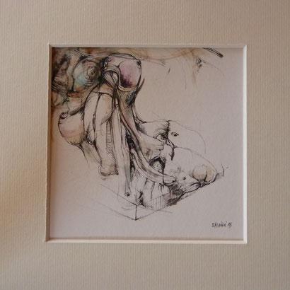 (O) Histoire d'Eau Encre sur papier Dim: 12cmx12cm