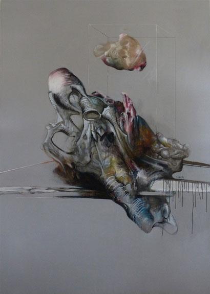 Gestation Acrylique sur toile 200cmx140cm