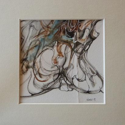 (M) Histoire d'Aime encre sur papier Dim: 12cmx12cm