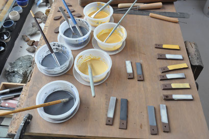 Fabrication et expérimentation de nouveaux engobes poterie céramiques grès