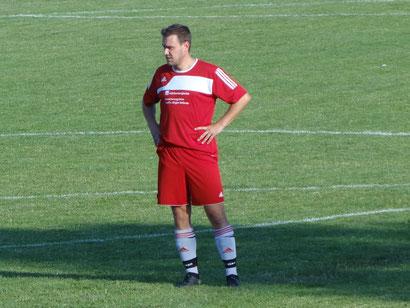 Neuzugang Patrick Kloos kam vom SV Muttensweiler. Im Vorbereitungsspiel gegen den FV Ay kam er zu seinem ersten Einsatz.