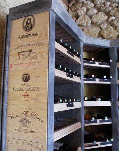 Esthétique de l'habillage de colonne des casiers à vins