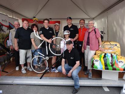 Radsportabteilung auf dem Hessentag